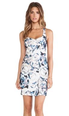 Black Halo Camden Sheath Mini Dress in Rosewood Print