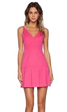 Black Halo Alayna Mini Dress in Pink Silk