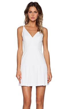 Black Halo Alayna Mini Dress in White
