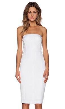 Black Halo Olsen Strapless Dress in White