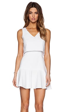 Black Halo Shawna Mini Dress in White