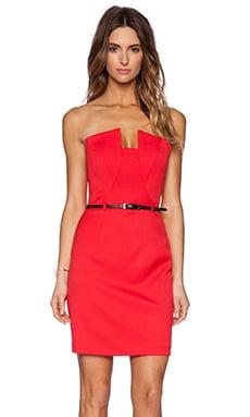 Black Halo Lena Mini Dress in Red Lotus