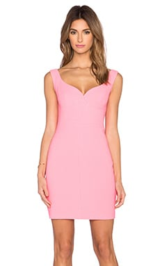 Black Halo Ally Mini Dress in Pink Freeze