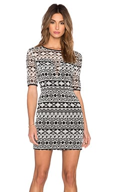 Black Halo Weston Mini Dress in Aztec Print