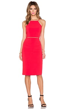 Black Halo Andretti 2 Piece Dress in Chic Red