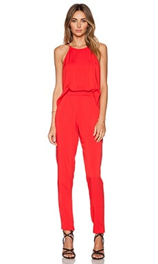 Black Halo Locus Jumpsuit in Candy Apple