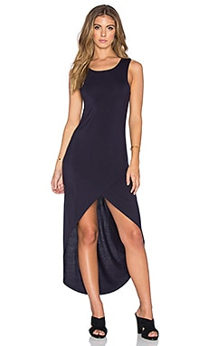 Bishop + Young Haley Hi-Low Maxi Dress in Navy