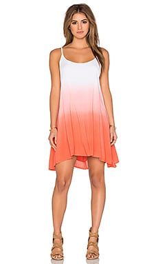 Dip Dye Dress in Coral