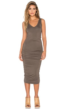Alba Midi Dress in Olive