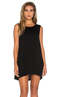 Knit Crossback Dress in Black