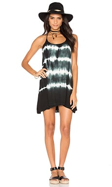 Bishop + Young Tie Dye Strappy Dress in Black