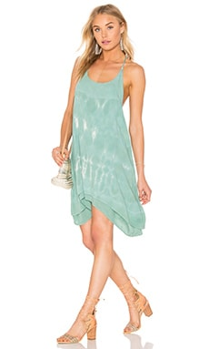 Tie Dye Strappy Dress in Teal