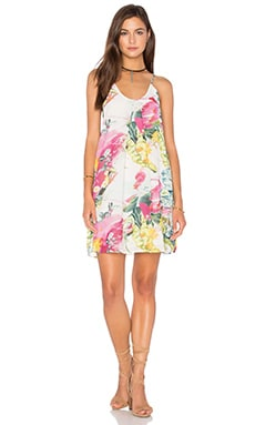 Bishop + Young Floral Shift Dress in White Floral Print