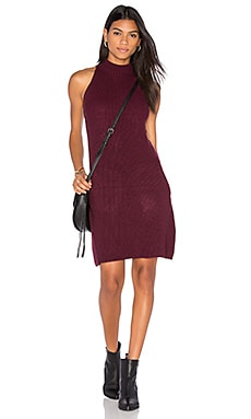 Scarlett Ribbed Sweater Dress in Burgundy