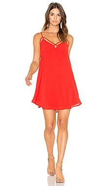Front Cross Strap Dress in Red