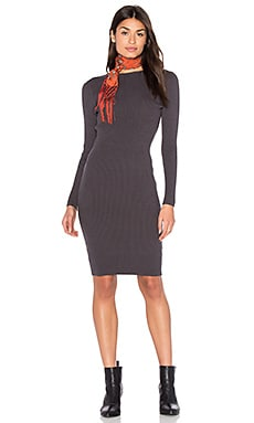 Bishop + Young Charcoal Grey Sweater Dress in Grey