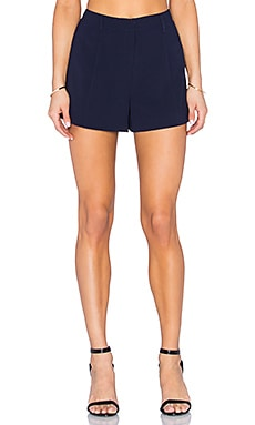 High Waist Drape Short en Marine