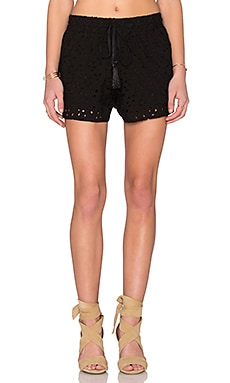 Eyelet Short in Black