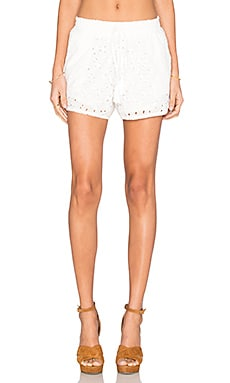 Eyelet Short in White