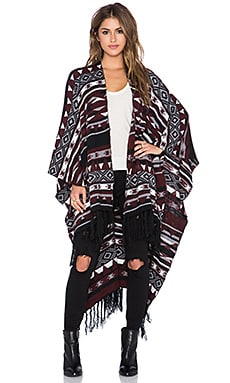 Bishop + Young Aztec Fringe Wrap in Print