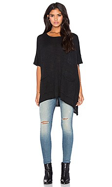 Bishop + Young Two Pocket Poncho in Black