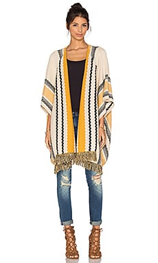 Striped Fringe Sweater in Ivory