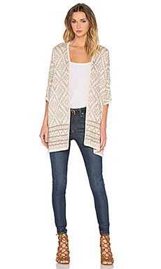 Bishop + Young Aztec Cardigan in Sand