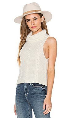 Cropped Cowl Neck Sweater in Ivory