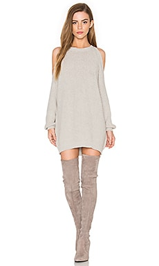 Cold Shoulder Tunic Sweater in Grey