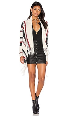 Stripe Fringe Cardigan em Assorted
