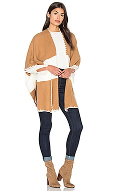 Two Toned Shawl in Camel