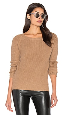Fuzzy Pullover Sweater in Camel
