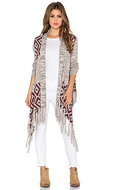 Bishop + Young Jessica Fringe Sweater in Heather Grey