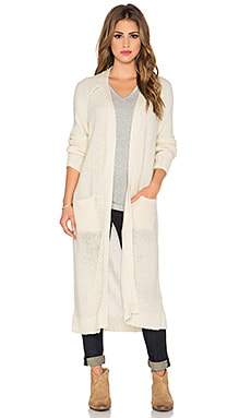 Bishop + Young Duster Cardigan in Ivory