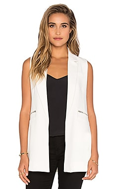 Sleeveless Tunic Vest en Blanc