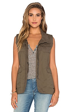 Bishop + Young Rozlyn Cargo Vest in Olive