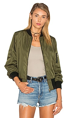 Bishop + Young Bomber Jacket in Green