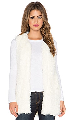 Bishop + Young Faux Fur Vest in Ivory