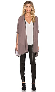 Bishop + Young Beaded Trim Kimono in Taupe