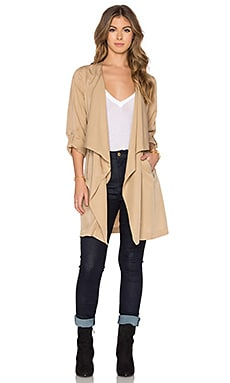 Bishop + Young Military Lightweight Trench in Sand