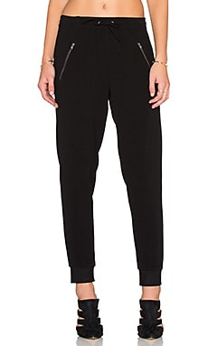 Bishop + Young Double Zip Pant in Black