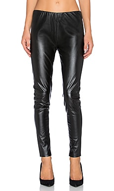 Bishop + Young Vegan Leather Legging en Noir