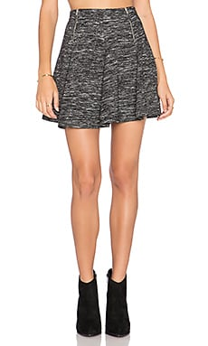 Bishop + Young Flare Mini Skirt in Heather Grey