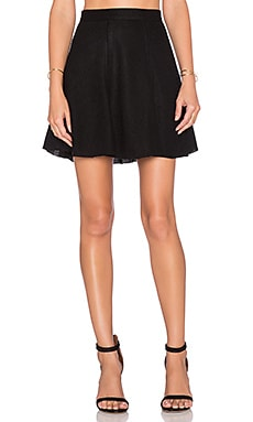 Bishop + Young A-Line Mini Skirt in Black