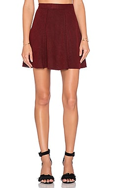 A-Line Mini Skirt en Bordeaux