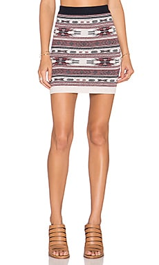 Bishop + Young Fair Isle Mini Skirt in Print