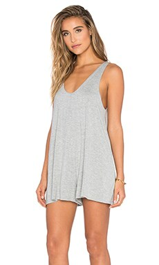 Bishop + Young Clare Knit Romper in Heather Grey