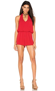 Halter Romper in Red