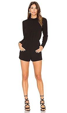 Long Sleeve Romper in Black