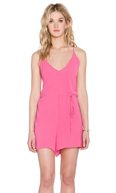 Bishop + Young Crossback Romper in Pink